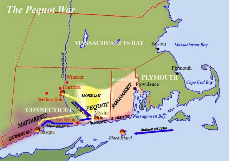 New England Pequot war