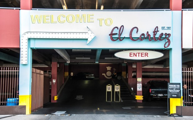 Some older garages, like the El Cortez in Las Vegas, can be poorly lit and make you feel a little nervous!