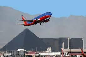 Leaving Las Vegas - usually a quiet plane ride.