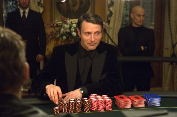 "Mads Mikkelsen in ""Casino Royale"" - A Whale NOT acting badly."