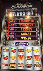Quick Hit Slot Machine with progressives listed.