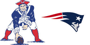 Old & New Logo of the New England Patriots