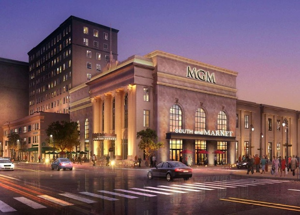 MGM Springfield Casino Entrance