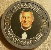 Sinatra Opened Fox Theater in 1993 at Foxwoods.  Commemorative Chip one year later.