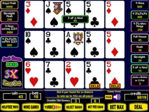 Super Times Pay Video Poker