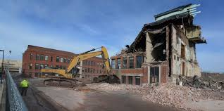 Demolition of Zanetti School is a sign of MGM Springfield Start.