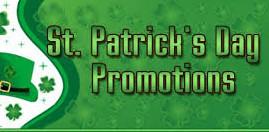 St Patricks Day Promos