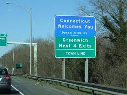 "On the I-95 NY/CT border.  Should it ""Fairfield County, Home of CT's Newest Casino?"""