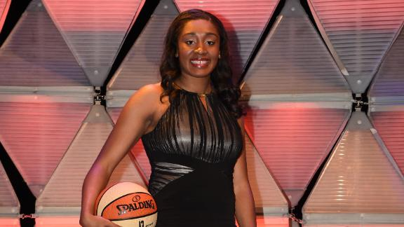 UConn's Morgan Tuck was the Sun's 1st pick.
