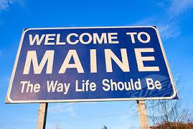 Maine sign