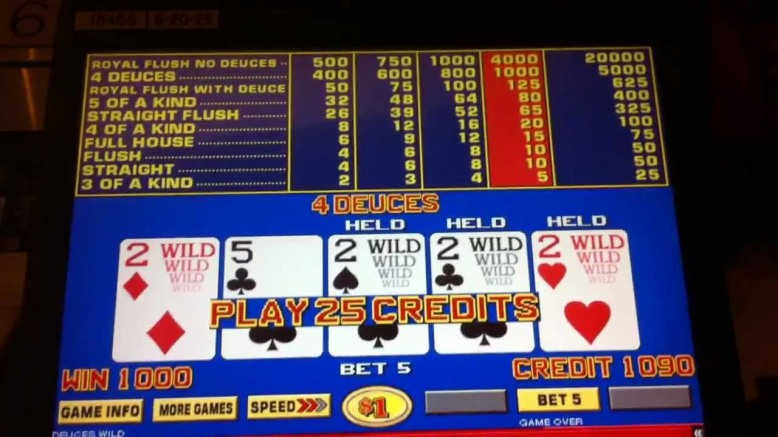 Look at the top of the pay table and notice Max Bet is 20 coins!