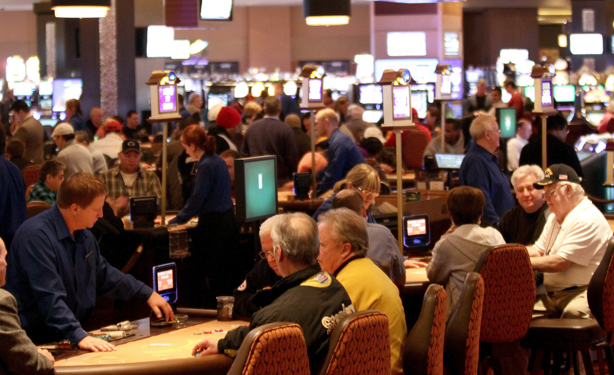 Table games at the rivers casino casino baseball bat scene