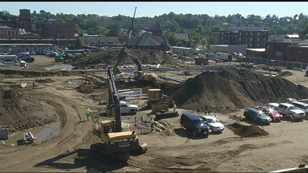 No buildings have gone up just yet, but there is a lot of important work being done underground for MGM Springfield.