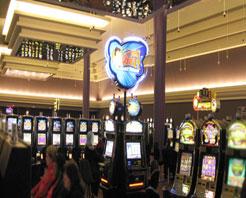Inside the Newport Grand Casino.