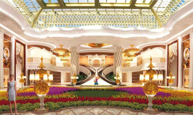 An image showed the planned interior of the casino.