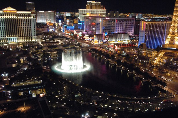 Cosno View from the West Tower, watching the Bellagio Fountains