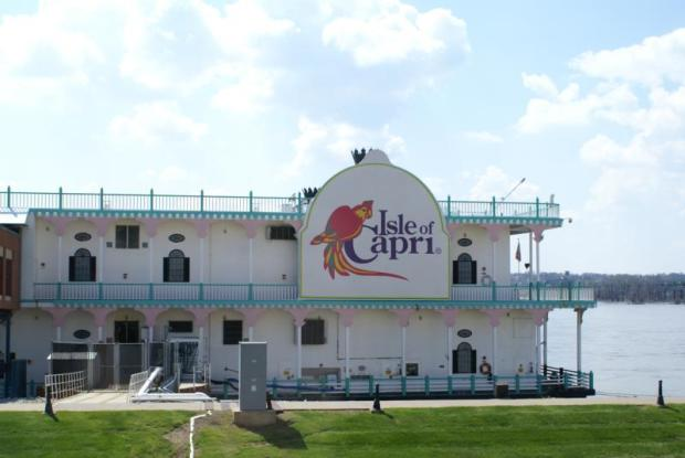 Bettendorf, Iowa Riverboat casino. These casinos do not have to travel on the river - they stay where they are.