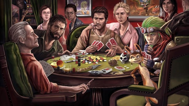 people-naughty-dog-plsaying-poker