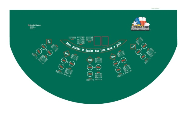 ultimate texas hold em table game